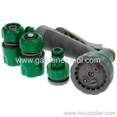 plastic 6-dail garden water spray gun set