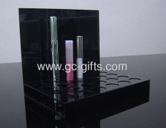 Custom black acrylic cosmetic display cases