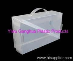 PP twill packing box for shoes shoes package box/bags with hanger