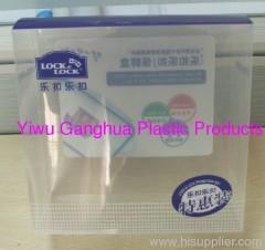 PET clear box for crisper package