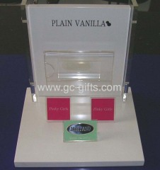 Shop counter acrylic display stands
