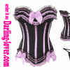 Pink bows colorful lace corset