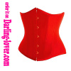 Red satin underbust corset