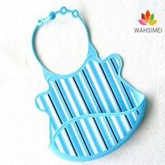 safe and flexible silicone baby bibs with pocket for baby