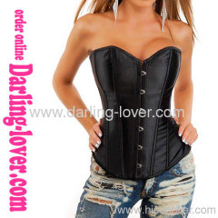 colorful sexy satin overbust corset