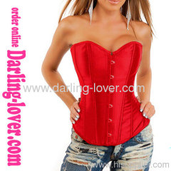 new style SEXY red satin corset