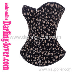 black sexy overbust corsets
