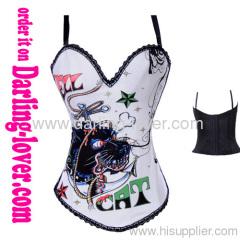 black over bust ladies corset