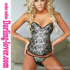 jacquard sexy strapless corsets