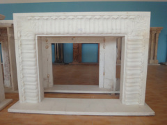 pillar stone fireplace frame