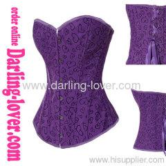 purple cotton overbust corset