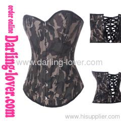 New stylish camouflage sexy corset