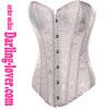 sexy white calico overbust corset
