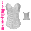 sexy white overbust corset