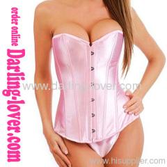 classic elegant sexy pink corset tops