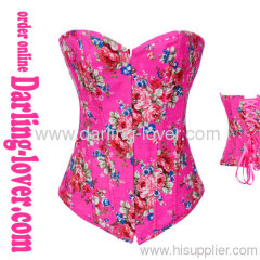 Pink cowboy fabric sexy corsets