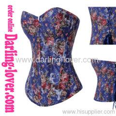 Cowboy fabric sex corsets