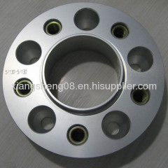 aluminum wheel spacer with maild steel cnc threaded inserts