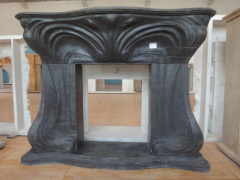 butterfly black huge fireplace mantel