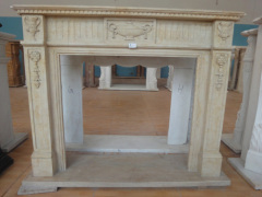 handcarved home decorative stone fireplace mantel