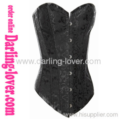 black calico overbust corsets