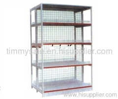 Double-sided centre back board supermarket shelf for shopping mall
