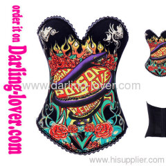 black strapless overbust corsets