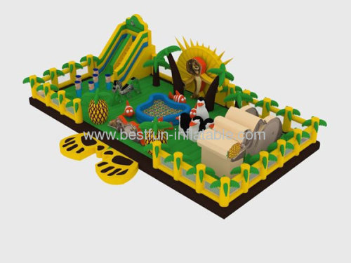 2013 New Trampoline Madagascar Inflatable Playground