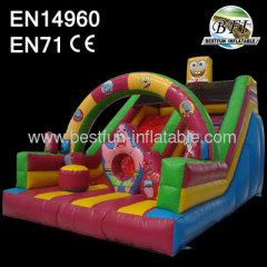 Kids Inflatable Spongebob Slide
