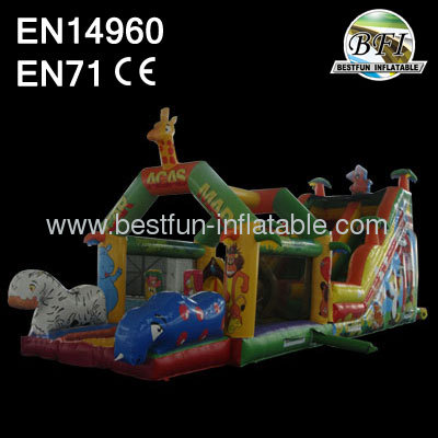 Madagascar Inflatable Obstacle Slide