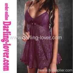 Wholesale Lace Purple Babydoll