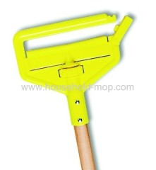 Flat mop frame handle