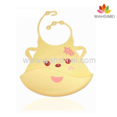 easy to clean personalized silicone baby bib