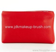 Fashion Red PU Cosmetic Pouch