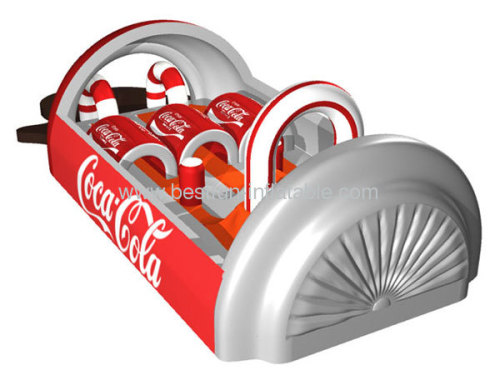 Inflatable Obstacle Course With Coca-Cola Design