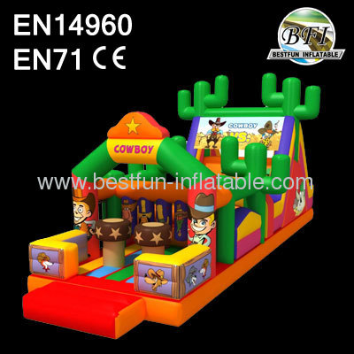 Inflatable Cowboy Obstacle For Boys