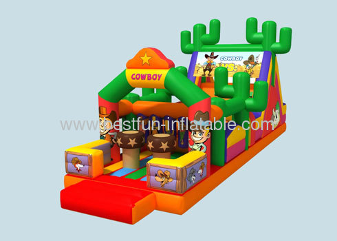 Inflatable Cowboy Obstacle Course