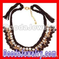 crystal beaded string necklace Wholesale
