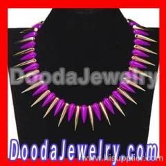 rivet spike Choker Necklace