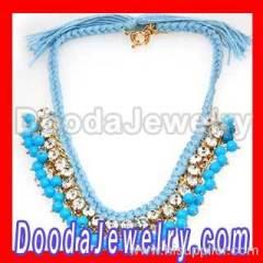 swarovski crystal strand string necklace