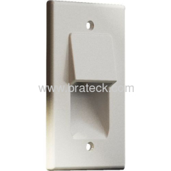 Recessed low voltage cable plate