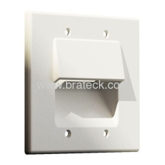 Recessed low voltage cable panel