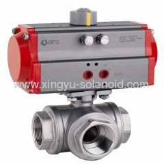 RBVP14 pneumatic Femal Thread 3WAY Ball Valve