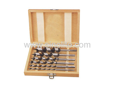 Auger Bit 6pcsLength 230mm; size: 10-12-14-16-18-20MM packed in wooden box