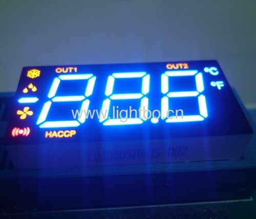 Red / Yellow 3 1/2 Digit 0.5  7-Segment LED Display for Heating / Cooling