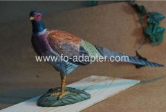 Native Wood Carved Pheasants