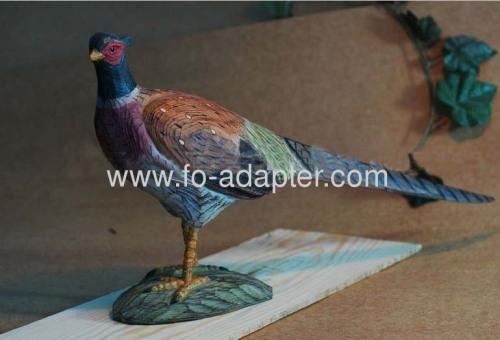 Native Wood Carved Pheasants