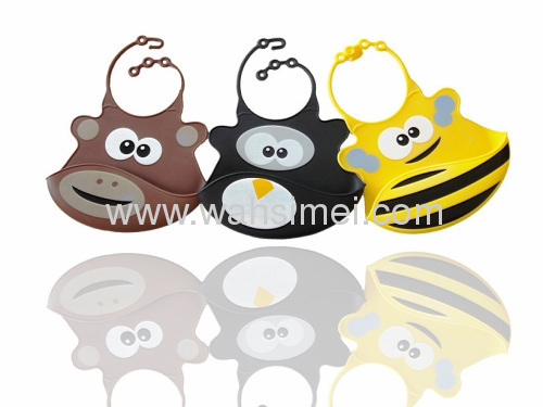 The latest animal serie lovely silicone baby bib