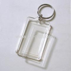 Cheap acrylic photo frame key rings