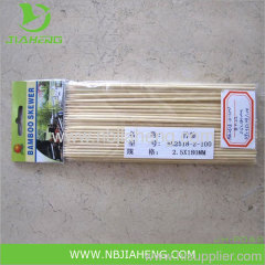 Nature environmental BBQ top grade bamboo skewers dia.2.5 3.0mm